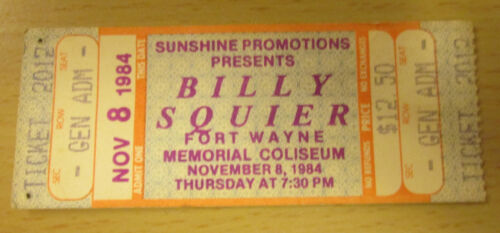 1984 RATT BILLY SQUIER FORT WAYNE CONCERT TICKET STUB OUT OF THE CELLAR TOUR