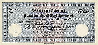 Ro.717 200 Reichsmark 1939 Steuergutschein (2)