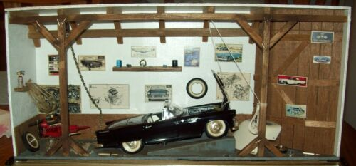 1957 FORD THUNDERBIRD 1:18 DANBURY MINT SHADOW BOX GARAGE