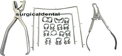 Starter Kit Rubber Dam Of 18 Pcs With Frame Punch Clamps Dental Instrument Sd3