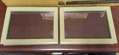 2ea Fire Rated Pyran-f 8x12 Door Metal Vision Kits With Glass Glazing Used