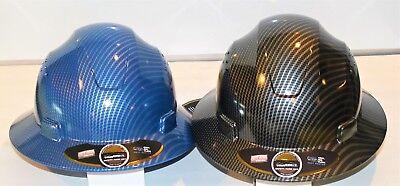 Hdpe-fiberglass Design Hard Hat-blacksilverbluesilver--pack Of 2 Hard Hats