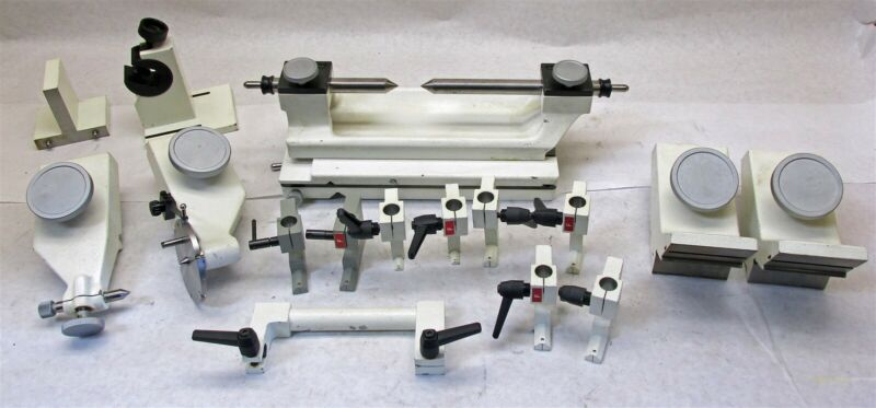 16 PC Optical Comparator Fixtures & Accessories: Centers, And More 61 lbs. Worth