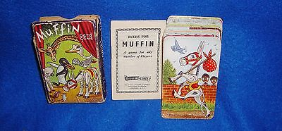 Vintage Muffin the Mule Card Game with Black Americana in Original Box