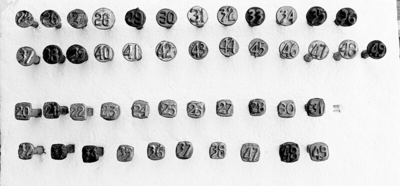 Set of Utah Railway date nails