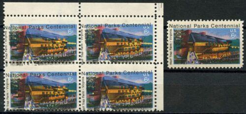"""#1452 Var. """"national Parks"""" Major Color Shift Error Block Of 4 Bt9738"""