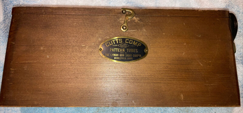 Vintage Cutts Comp Pattern Tubes Box Only With Wrench Lyman Gun Sight Corp