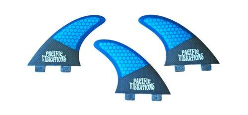 Pacific Vibrations Fcs AM1 SURFBOARD TRI MEDIUM 3 FIN SET Carbon Honeycomb Fins