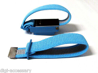 NEW Anti Static Antistatic Wristband  Strap Band Cordless Blue