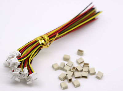 20sets Mini Micro Sh 1.0 Jst 3-pin Connector Plug Male With 100mm Cable Female