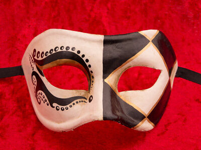 Mask Venice Colombine White Anita paper mash Creation 22135 - V28