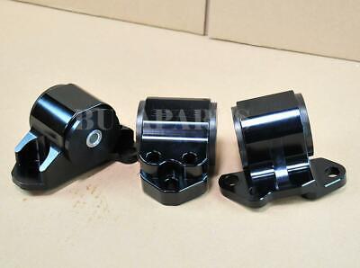 - Black Billet Aluminum Motor Mounts Swap Kit For 92-95 Honda Civic EG D-B Series