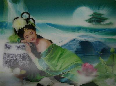Asian Beauty Dreaming - 3D Lenticular Poster -  - 10x14 Print