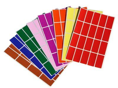 Rectangle Name Tags - Rectangular Color Coding Stickers Name Tags Marking 40mm x 19mm Labels 640 Pack