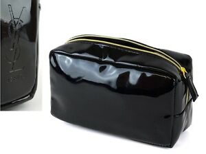 YSL DESIGNER TRAVEL SIZE COSMETIC POUCH CLUTCH BAG GREAT FOR SMALL MAKE UP ITEMS