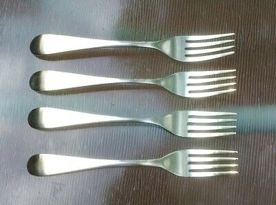 Ikea Stainless Loja Pattern Set 4 Dinner Forks Free Ship!