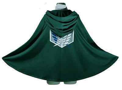 Attack on Titan Anime Shingeki no Kyojin Cloak Cape Cosplay Halloween Size - Cosplayers On Halloween