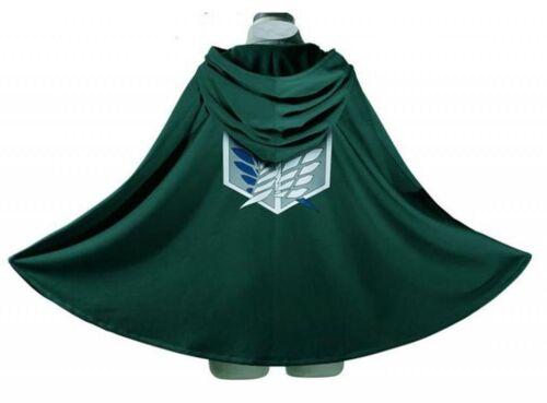 Attack on Titan Anime Shingeki no Kyojin Cloak Cape Cosplay Halloween SizeMedium