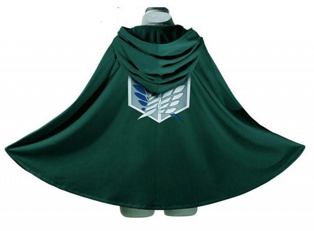 Attack on Titan Anime Shingeki no Kyojin Cloak Cape Cosplay Halloween Size Large