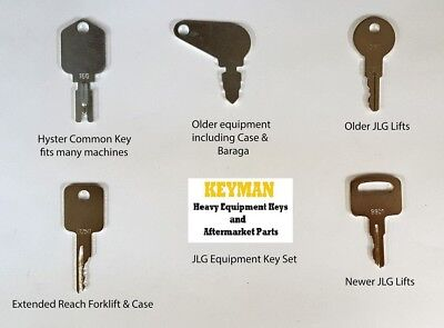 Jlg Heavy Equipment Construction Ignition Key Set 5 Keys Fits Many Models