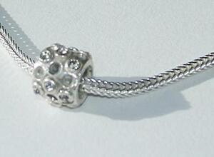 *New* 925 Sterling Silver crystal and oxidised detail charm Bead by Source
