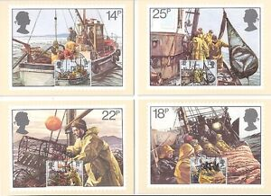 (05881) PHQ Postcards Fishing 1981 - First Day of Issue front