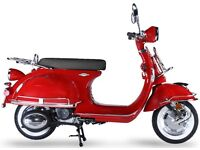 AJS MODENA 125CC SCOOTER, 50 S CLASSIC RETRO STYLE, NEW, FINANCE AVAILABLE 1 YEAR WARRANTY, L LEGAL