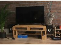 TV Stand Speaker/ Media Unit Rustic Industrial Pallet Furniture Plywood Shelf