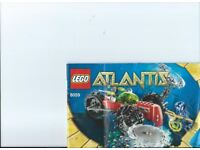 Lego Kit 8059 Atlantis Seabed Scavenger complete with booklet Low Price