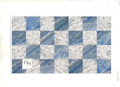 Faux Marble Flooring - Faux Marble 34730 Tile floor sheet  dollhouse 1pc 1/12 scale World & Model
