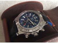 Rare Breitling Chronomat GMT, Blue Face, 1 Year Old- 4 Years Warrenty Remaining