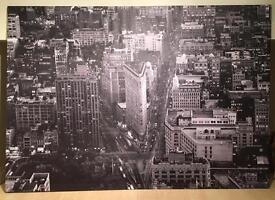 Large IKEA canvas Manhattan print