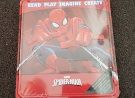 Spiderman activity tin