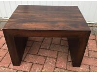 """Solid Sheesham Side Table, 2ft x 18"""" x 15"""""""