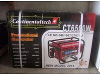 Brand new, still boxed 6.5Kw petrol generator