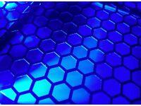 BLACK ANTEC 1100 ATX Transparent PC Case with BLUE backlight, Good condition