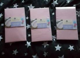 Pink Moses basket sheets