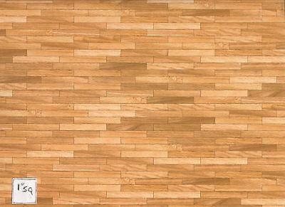 Faux Plank Wood 34601 floor sheet dollhouse 1/12 scale - glossy heavy card stock