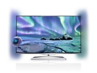 philips 42plf6907 led 3 smart with wifi build in . mint condition . frameless tv