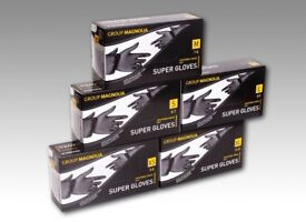 Black nitrile gloves Box of 100 Higest Quality, Latex and powder free, mechanic tattoo vet clinic