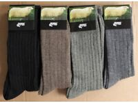 108 Pairs Mens Wool Blend Socks Size 6-11 Assorted Colours New With Tags To Clear Stock Job Lot