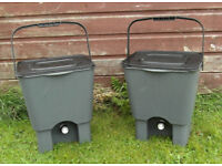 Pair of Bokashi Bins (Home Composting) originally supplied by 'Wiggly Wigglers'.