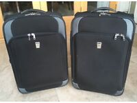 PAIR OF ANTLER CABIN SUITCASES