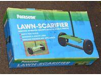 Manual lawn scarifier, unused in box