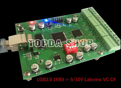ADI High-speed 8-channel Data Acquisition Card USB2.016Bit +-5/10V Labview VC C#, used for sale  China
