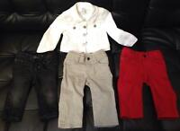 Baby Gap denim (12-18 white jean jacket, 3-6, 6-12 pants)