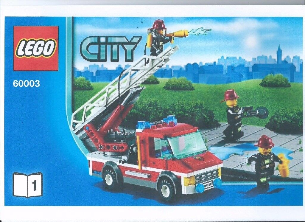 Lego Kit 60003 Fire Rescue Fire Engine And Burning House Three