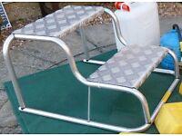 Milenco aluminium double step for caravan