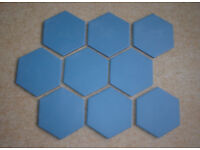 80 Unglazed Hexagonal Mosaic Tiles 10cm x 10cm
