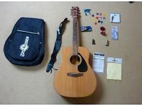 Yamaha F310 Acoustic Guitar, Accessories and Stand - Very Good Condition